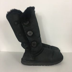 UGG Black Triple Bailey Button Boots